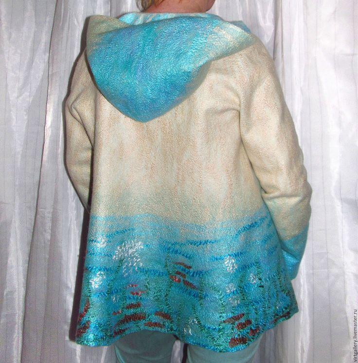 """Купить Летняя тонкая курточка кофта """"Отпуск на море"""" - куртка с капюшоном, куртка на молнии"""