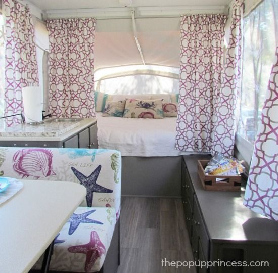 Beachy Pop Up Camper