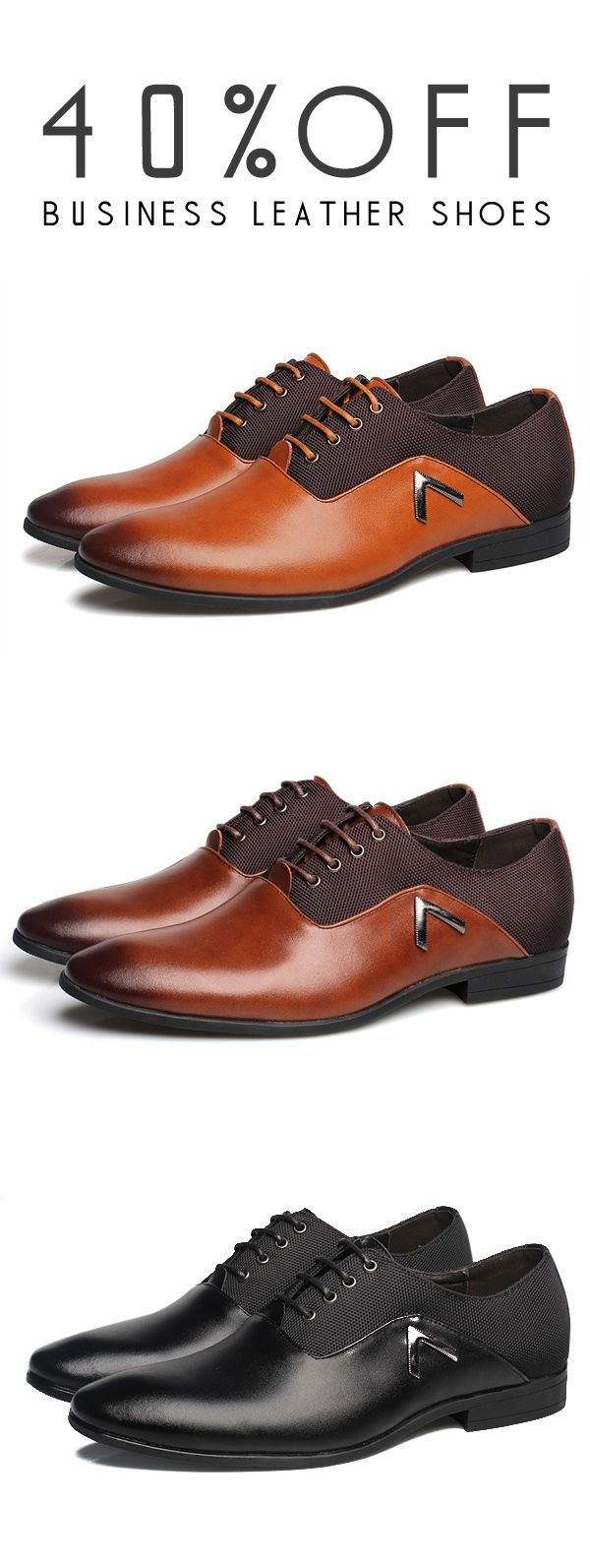 40%OFF&Free shipping. Business Shoes, Leather, Comfortable, Pointed Toe, Casual, Soft Leather Shoes. Color: Black, Brown, Khaki. Shop now~