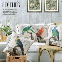 Fleur perroquet oreiller coussins européennes Floral oiseaux oreillers épais linge taie d'oreiller canapé coussin lombaire oreillers décoratifs pour la maison