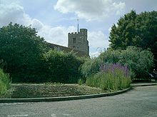 Bushey (population 24,000) is a town in the Hertsmere borough of Hertfordshire in the East of England. Bushey Heath is a large neighbourhood south east of Bushey on the boundary with the London Borough of Harrow reaching elevations of 165 metres (541 ft) above sea level.