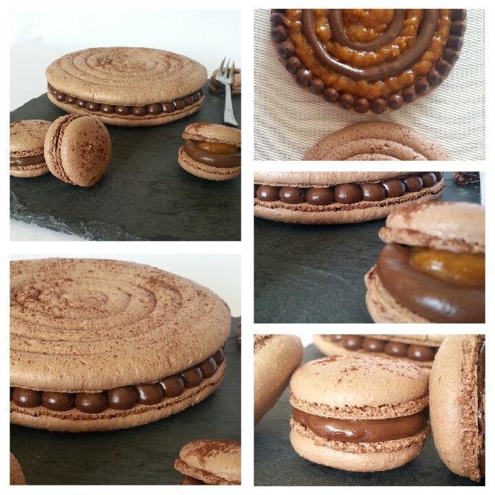 Macarons chocolat abricot