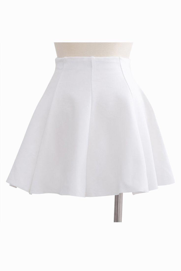 Accept. opinion Short white mini skirt