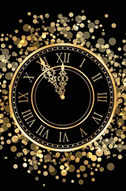 Happy New Year in Black and Gold