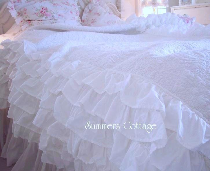 Top 28 Shabby Chic White Ruffle Bedding ruffle