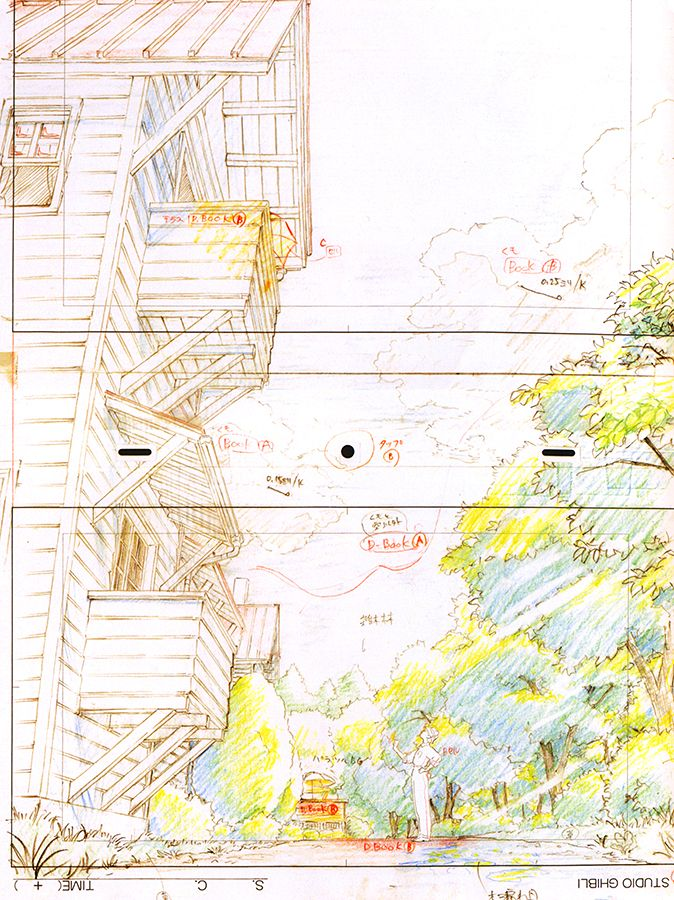 artbooksnat:  A selection of animation layouts for Studio Ghibli's The Wind Rises (風立ちぬ) from The Wind Rises Roman Album Extra(Amazon US | JP), with a focus on the romance between Jiro Horikoshi and Naoko Satomi.