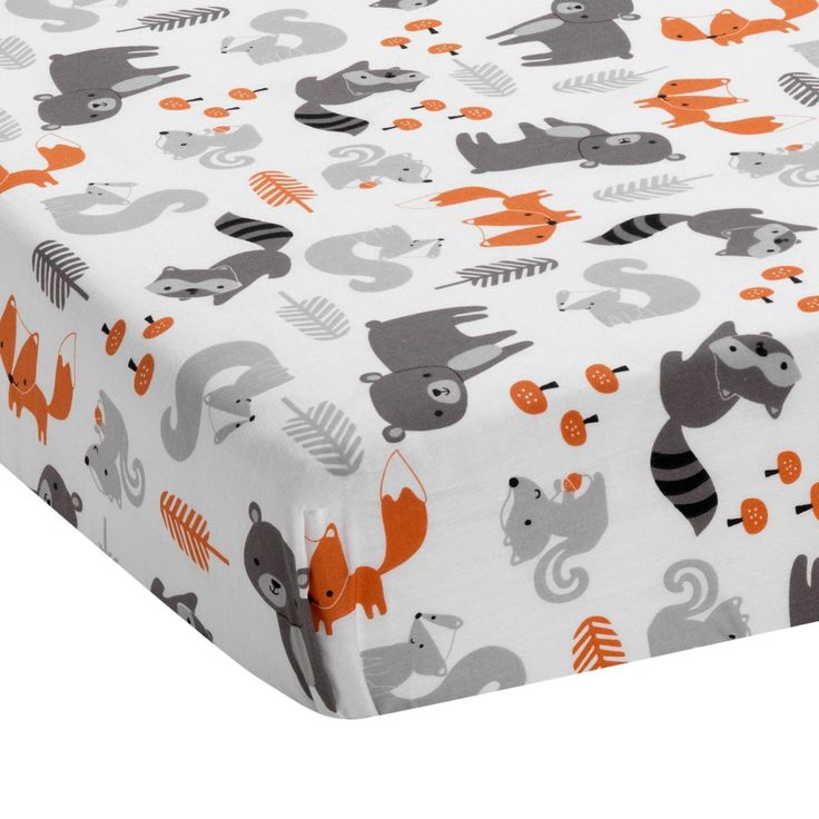 Bedtime Originals Acorn Fitted Crib Sheet Woodland Fox