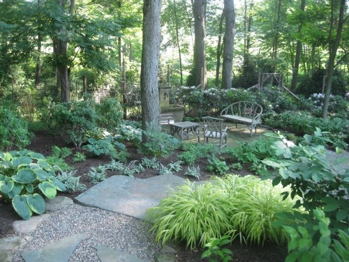 Shaded Backyard Ideas make a shady rock garden Find This Pin And More On Garden Shady Paths