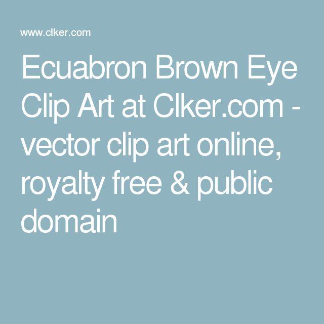 Ecuabron Brown Eye Clip Art at Clker.com - vector clip art online, royalty free & public domain