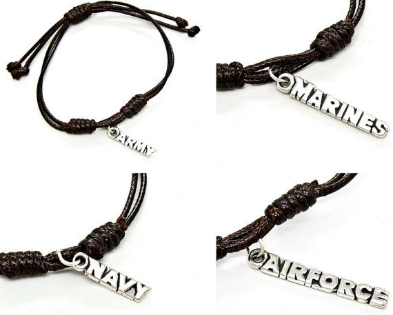 Bracelet Adjustable Military Service Air by GrassShackTrading