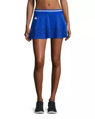 TV7W1 adidas by Stella McCartney Perforated-Trim Tennis Skirt, Blue/White