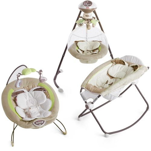 Fisher Price My Little Snugabunny Swing And Bouncer Set