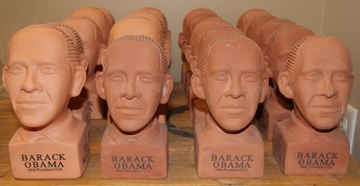 ATTACK!!  Army of Obama Chia Pets ready to CH-CH-CH Chia!!!  Would you buy this many Obama Chia pets???