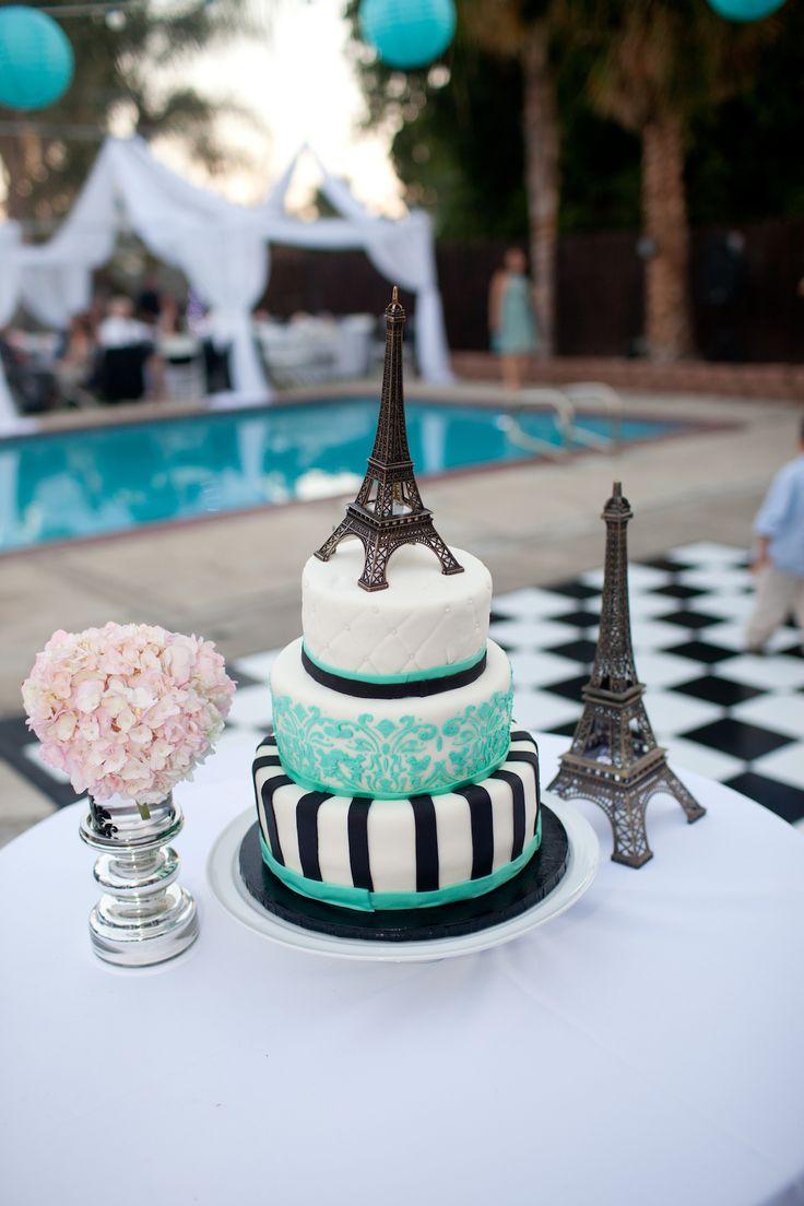 Eiffel Tower Paris theme cake | Paris Sweet 16 Birthday ...