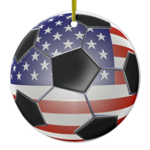 US Soccer Ball Ornament  US Soccer Ball Ornament 					 			 					 $16.85 			 by  50thbirthdaygifts