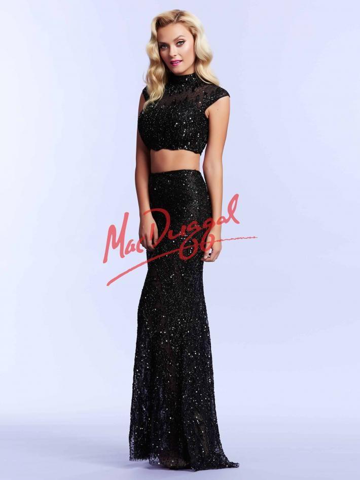 7659c1cdc10 Black Two Piece Prom Dress