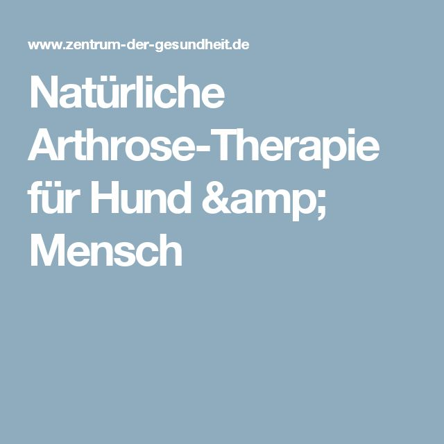 Natürliche Arthrose-Therapie für Hund & Mensch