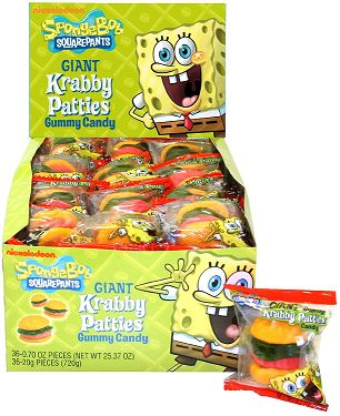 These Spongebob crabby patties would make an ideal treat for your childs birthday celebration.  You can place them in a bowl and serve during the party or as a sweet treat.