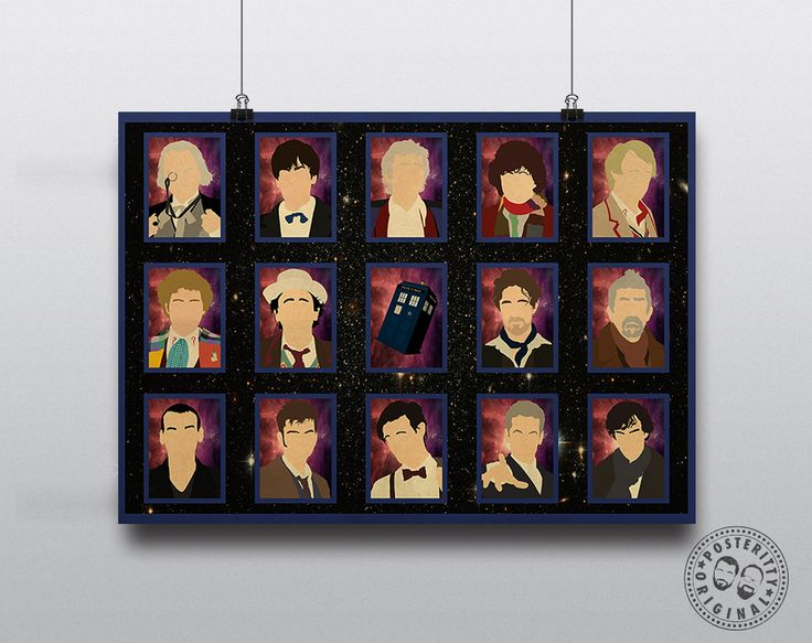 Personalised Dr Who Print - YOU are the next Doctor! #DrWho #Tardis #Posteritty #Minimalist #DavidTennant #MattSmith #Whovian #Sherlock