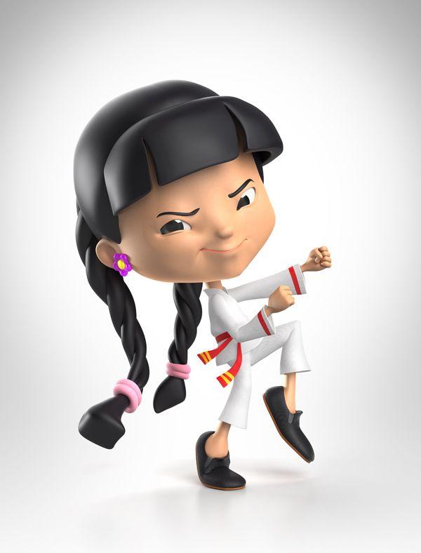 3D Jippi Characters Kids Food Range  - Packaging by Tim Cooper - 3D Image Creation, via Behance