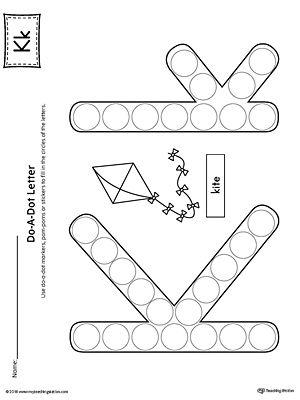 letter k do a dot worksheet alphabet letters letter k letter k preschool letter k crafts. Black Bedroom Furniture Sets. Home Design Ideas
