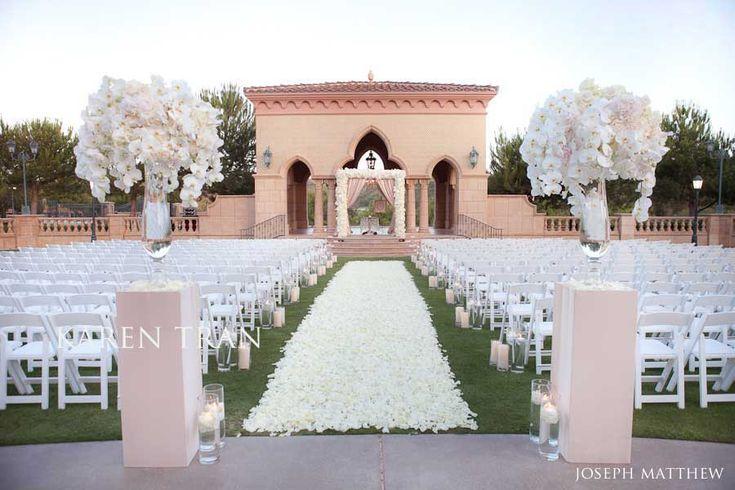 Blush colored wedding ceremony at the Grand Del Mar