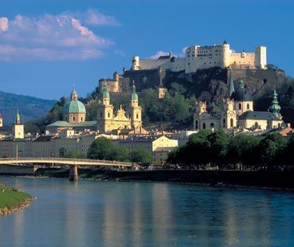 Salzburg, Austria - one of the most beautiful places I've been.  The view from Fortress Hohensalzburg is breathtaking!