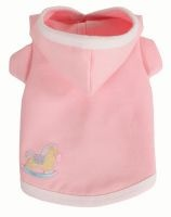 Pamper your little baby with the Ruff Ruff Couture® Baby Sweatshirt.  Made of soft and stretchy french terry and finished with a rocking horse  appliqué, its so cozy, youll want one for yourself. Available in  light pink or light blue. Proudly made in the U.S.A.