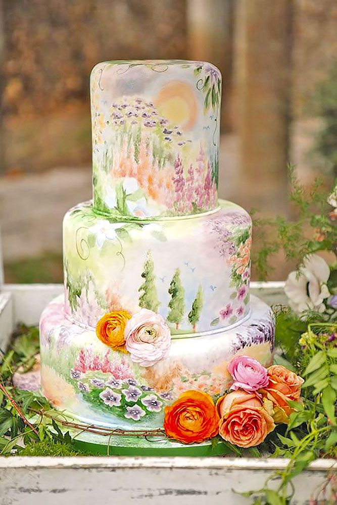 30 Elegantly Colored Wedding Cakes