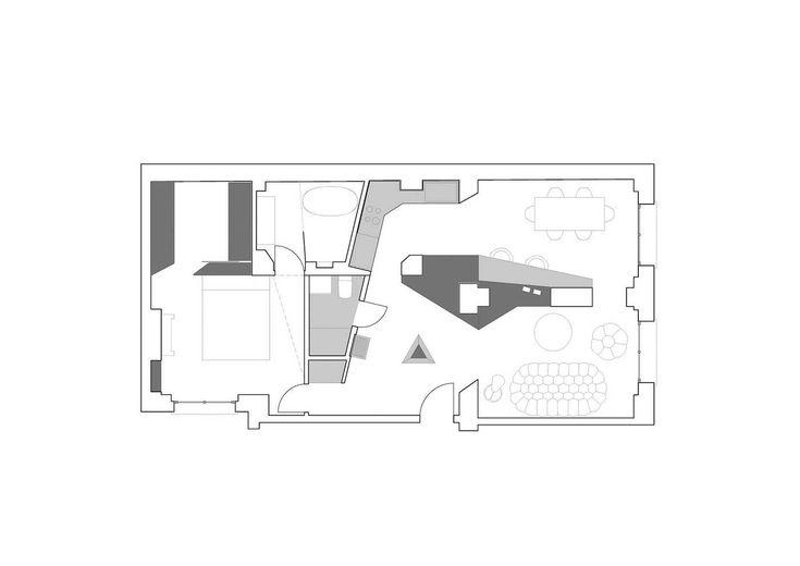Geometrikus modern dizájn egy 150 éves ház 80 nm-es lakásában,  #alaprjaz #design #dizájn #fiatal #geometria #geometrikus #inspiráció #kutya #kutyaház #lakás #lakberendezés #ötlet #otthon #Paris #Párizs #praktikus #régi #stukkó #új, https://www.otthon24.hu/geometrikus-modern-dizajn-egy-regi-lakasban/
