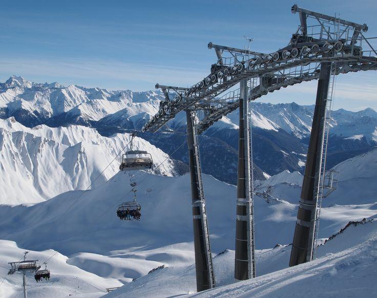 The Masnerkopfbahn Masner in Serfaus, Tyrol, Austria.