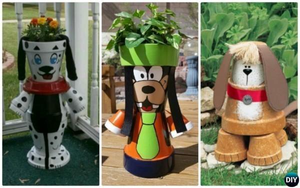 DIY Clay Pot Puppy Dog Instruction - Terracotta Clay Pot Frog DIY Clay Pot Garden Craft Projects