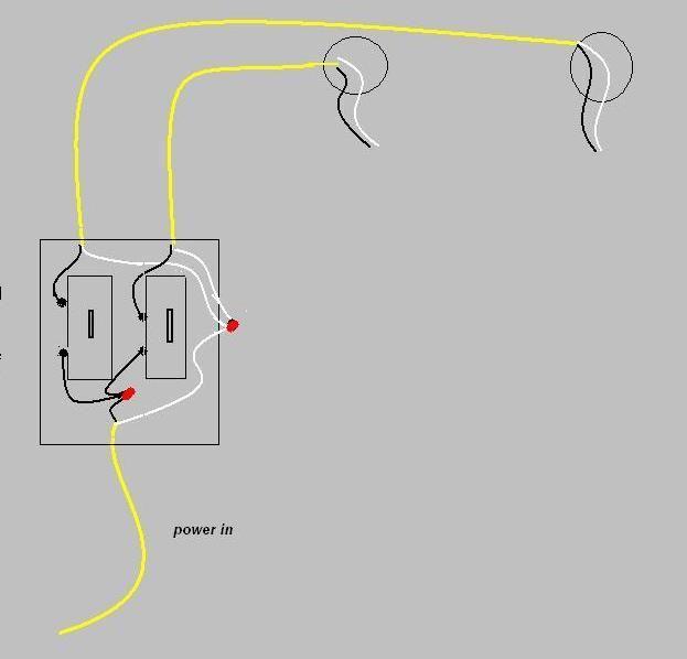 basic light switch wiring uk