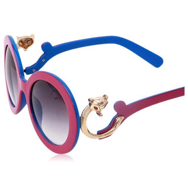Singapure - Designer Retro Round Oversize Sunglasses UV400
