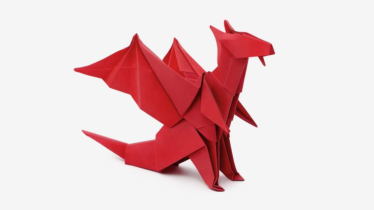 How to make an origami Dragon, designed by Jo Nakashima (20/fev/2015) Difficulty level: low intermediate My paper: Red Tissue Foil from origami-shop 20cm x20...