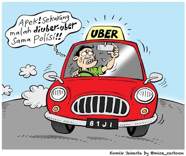 Mice Cartoon, Komik Jakarta - Juni 2015: Nasib Uber Yang Diuber-uber