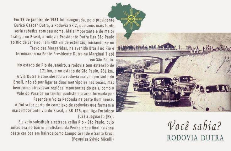 """#CNSPNotícias - Você sabia? - 19 de janeiro de 2015 - A Rodovia """"BR-2"""" ~ Jornalista Sylvio Micelli"""