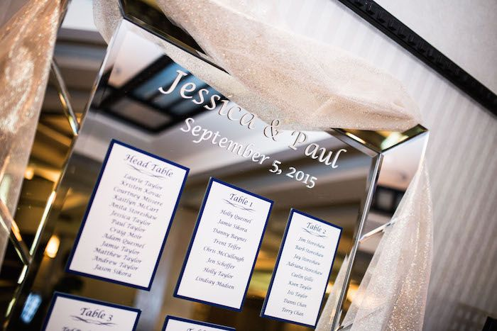 Jessica & Paul's table seating chart// Banff National Park, Canadian Rockies// Photographers: Eric Daigle Photography (Daytime) Robert Servais Professional Photography (Evening) #uniqueseatingcharts #weddingseatingcharts #weddinginspiration #weddingideas