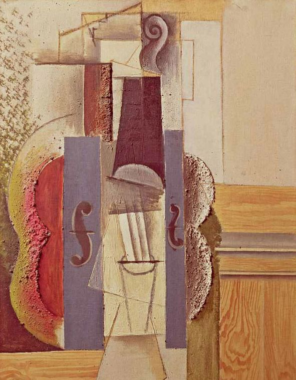 Pablo Picasso. Violin Hanging on the Wall. 1912 year