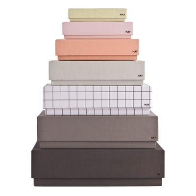 Hay oppbevaringsbokser Box Desktop Female 7stk > Interiørting | www.ting.no
