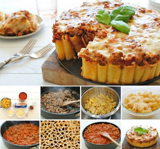 DIY Rigatoni Pasta Pie Recipe -> http://www.fabartdiy.com/how-to-diy-yummy-and-easy-rigatoni-pasta-pie/ #recipe, #Pasta, #rigatoni