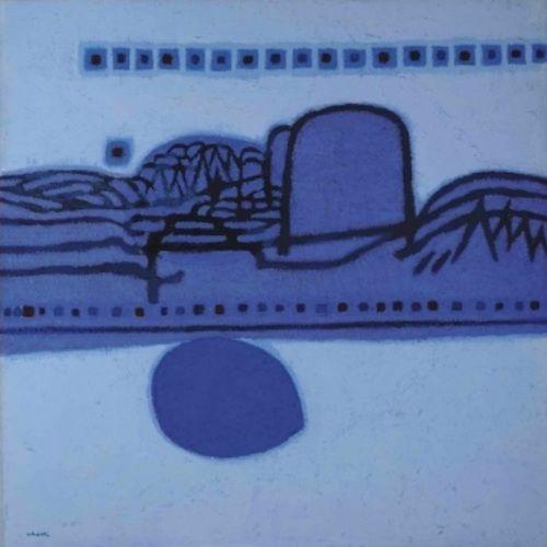 kim whan-ki, landscape in blue