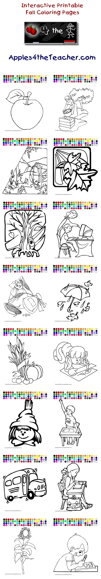 Printable Interactive Fall Coloring Pages For Kids