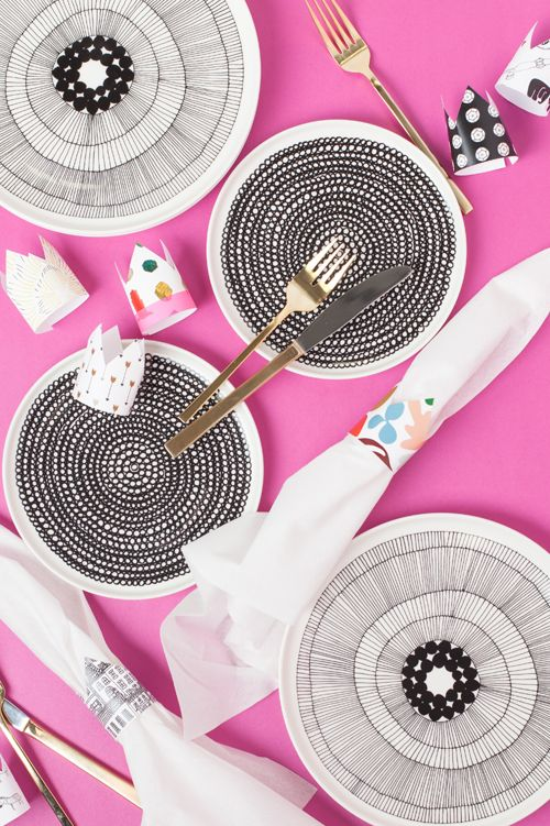 Printable napkin rings from Kathryn Zaremba on The House That Lars Built