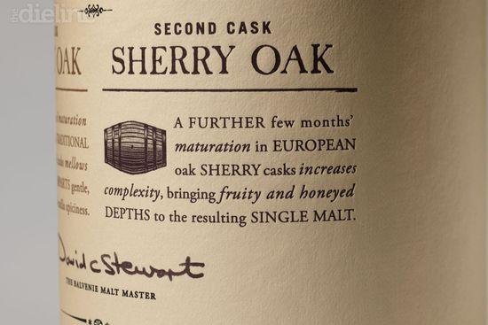 Balvenie Whisky label