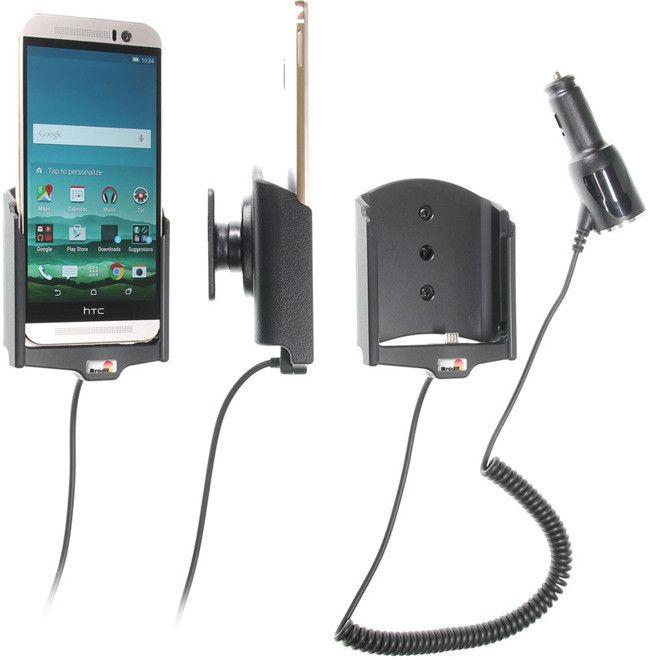 Uchwyt do HTC One M9 z wbudowaną ładowarką samochodową.