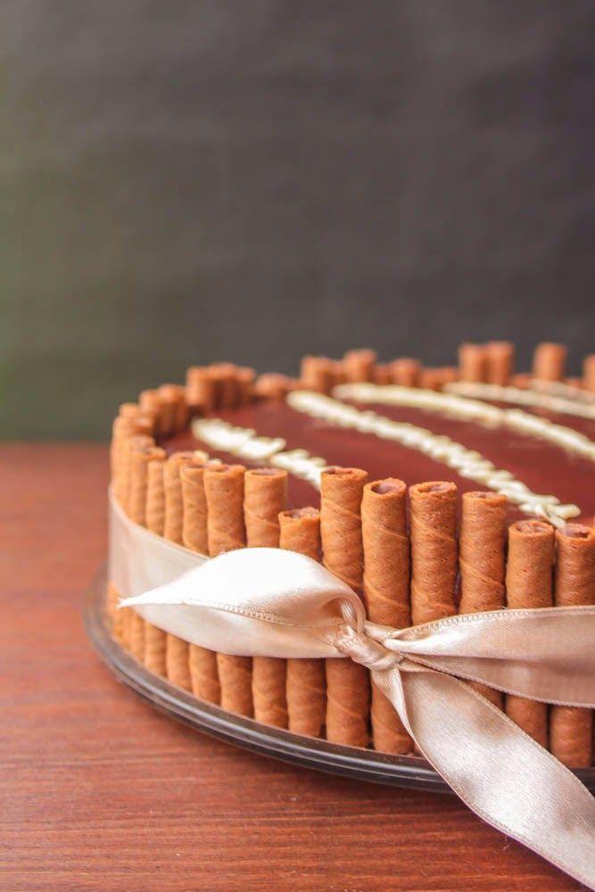 ������ �������� �� ������ ������ ���������������/Chocolate and vanilla custard cake