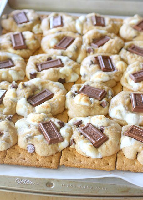 s'more cookies with gram cracker bases