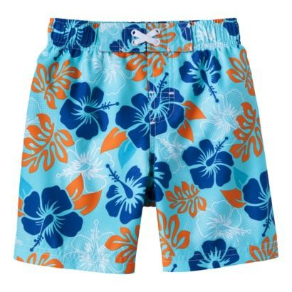 My new boys swim trunks are starting to hit target stores now!    Circo® Infant Toddler Boys' Floral Swim Trunk