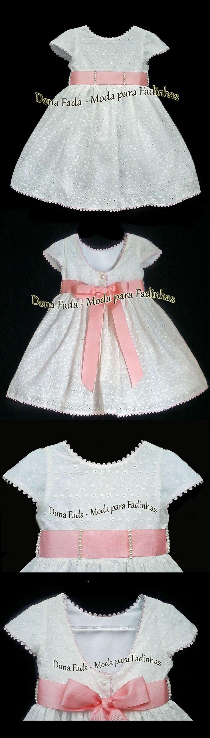 Vestido Laise Off White - 2 anos - - - - - baby - infant - toddler - kids - clothes for girls - - - https://www.facebook.com/dona.fada.moda.para.fadinhas/